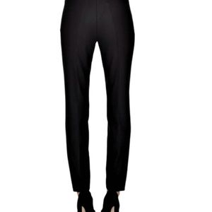 Dress Pants Slim Fit Side Zipper Flat Front Crepe